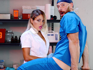 Johnny Sins & Kissa Sins in One For The Doctor -