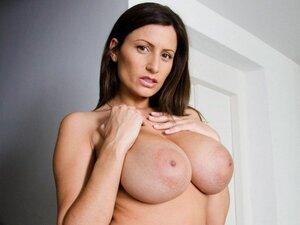 Amazing big natural tits while sucking dick, We