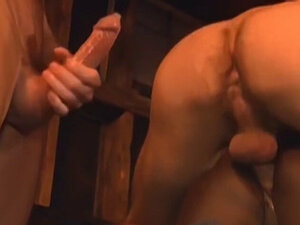 Three hunks service each other in interracial