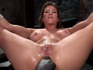 Busty slave rough cunt and ass fucked