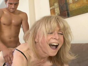 The busty whore Nina Hartley is poked in doggy