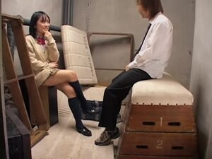 Sweet Jap gives a passionate blowjob on hidden