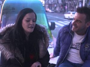 Curvy exhibitionist rides cock for cash