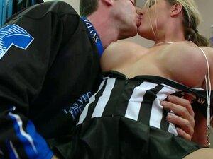 fingCoach seduces sexy referee Charisma Cappelli