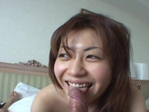 Amateur Asian chic giving a sensual blowjob and