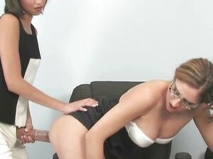 Horny teacher gets her tight hole fucked