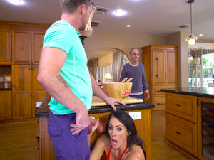 Reagan Foxx almost caught by her older hubby,