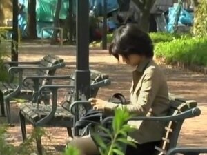 Wild skirt sharking video in a public park in