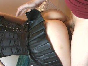 Fucking In PVC Skirt
