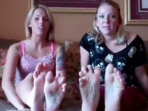 Made to worship their stripper roommate's feet