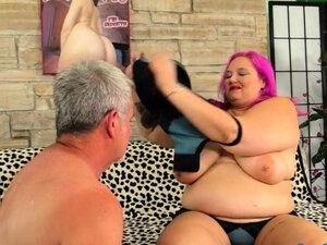 Wild Fatty Sara Star Rides an Old Dick