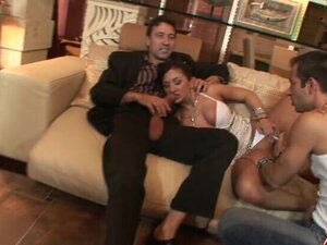 Double penetration group sex party with naughty