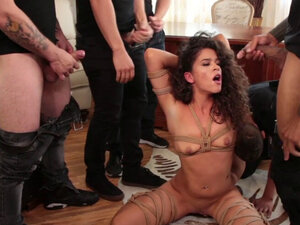 Ex girlfriend orgy banged in bdsm