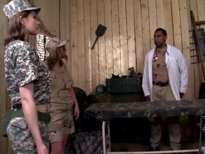 Military babes get there 1st Taste of Interracial
