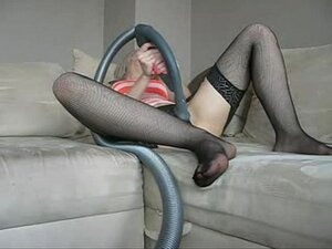 Sophie in stockings, lingerie and glasses