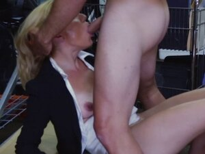 Real pawnshop amateur doggystyle before giving bj