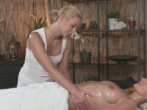 Massage Rooms Hot Czech lesbian gives big boobs