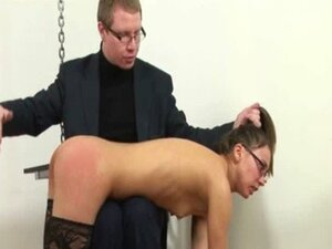 Young secretary spanked