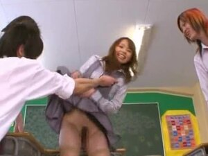 Eri Ouka Sweet Japanese teacher gangbang part4