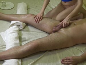 Sexy massage for him & orgasm control with final
