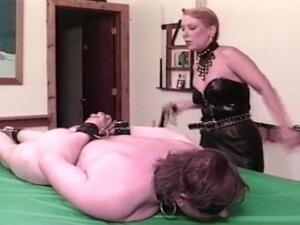 Kinky blonde Mistress Pamela Payne welcomes her