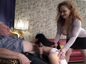 Amateur FFM threesome with a mature wife and a