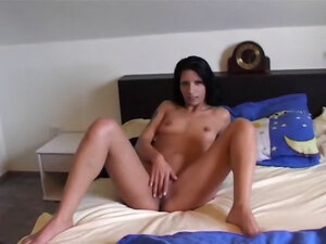 Sexy cool brunette massaging snatch, This cool,
