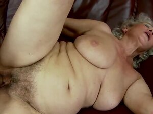 Man is having sex with this fat hairy grandma