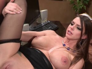 Busty Brooklyn Chase in high heels being fucked on