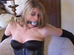 Bondage with sexy stockings & high heels (black