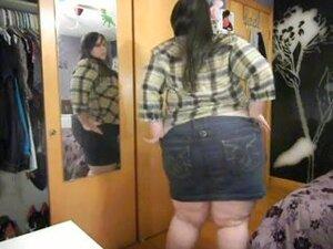 Agreeable SSBBW disrobe teasing, Huge fatty strips