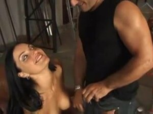 Smoking hot Italian babe gets cum in mouth,