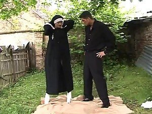Nun and Priest Going Hot and Heavy in Outdoor Sex