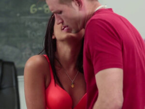 Smalltits cheerleader banged by the coach