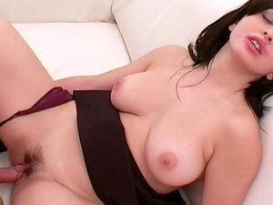 Dark-haired wife swallows sperm