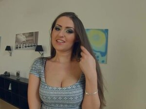 Prime Cups brunette with big boobs loves filming