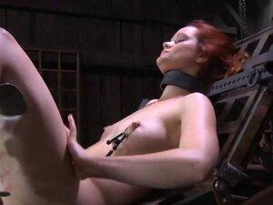 Beauty gets senseless caning, BDSM