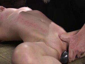 Babe in device bondage gets zipper