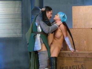 Hot MILF cosplayer Abigail Mac gets screwed real